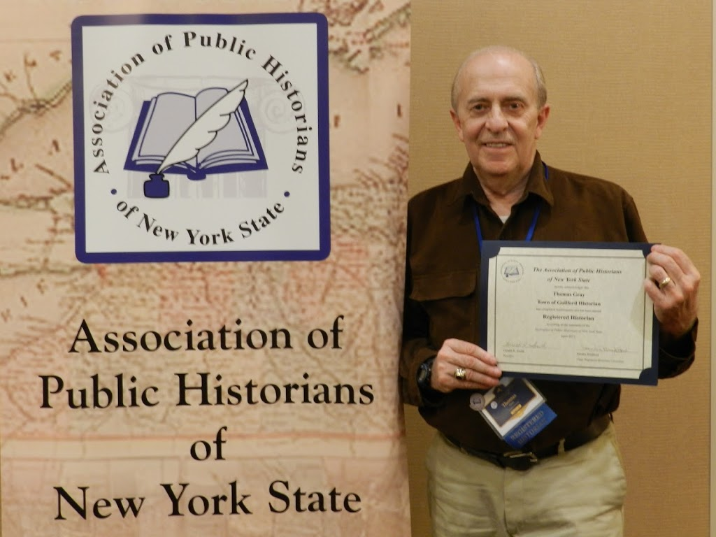Tom Gray Receives NYS Registered Historian Designation by APHNYS
